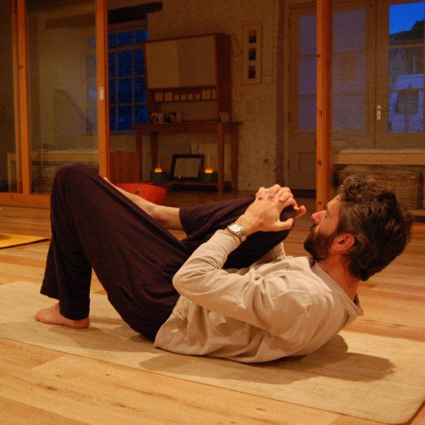Yoga posture in Ashburton class