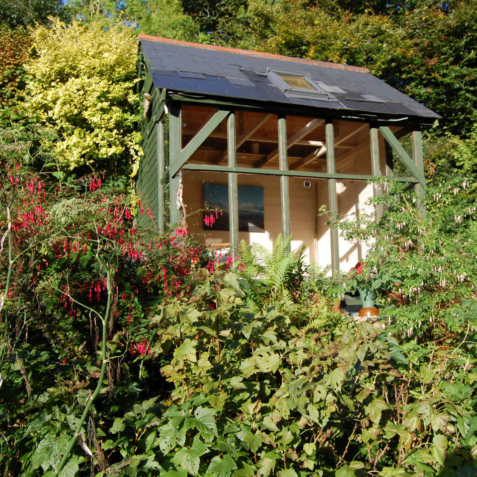 Yoga and meditation cabin in the garden